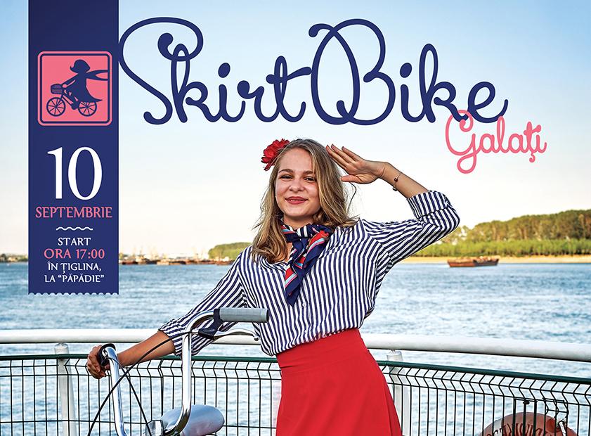 SkirtBike Galaţi, pe 10 septembrie – despre fete şi biciclete